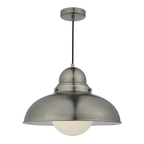 Dynamo 1 Light Pendant Antique Chrome (Class 2 Double Insulated) BXDYN8661-17